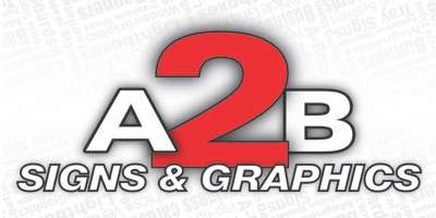 A 2 B Signs and Graphics Logo