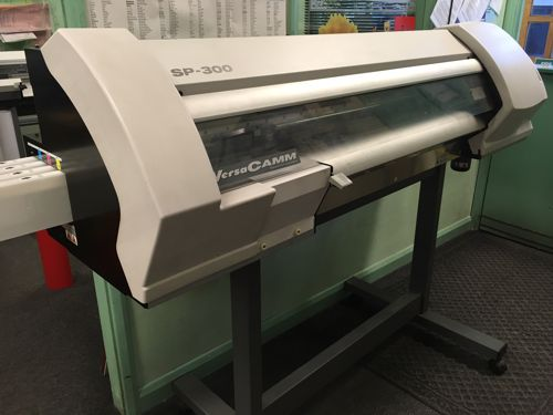 Graphtec FC8600-160 vinyl plotter with optical eye and basket