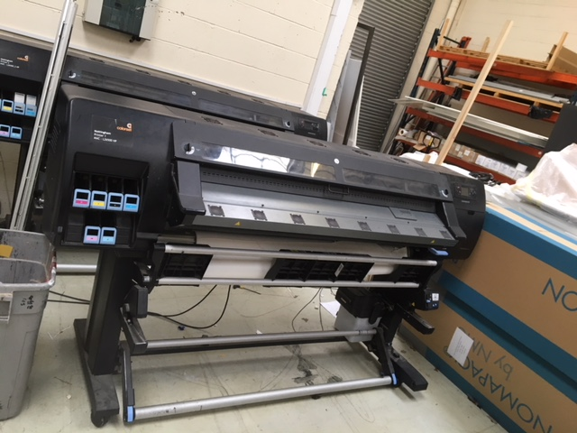 HP Latex 26500 wide format printer from the side