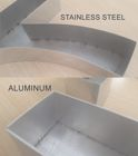 Welded aluminium and stainless steel