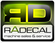 Radecal machine sales Logo