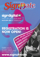 Front cover of Sign Update magazine, issue 190