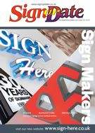 Front cover of Sign Update magazine, issue 193