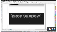 Youtube video on drop shadow effect in coral draw X6