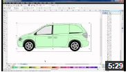video tutorial on vehicle wrapping in coral draw X6