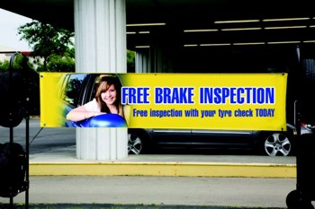 Banner offering a free brake inspection