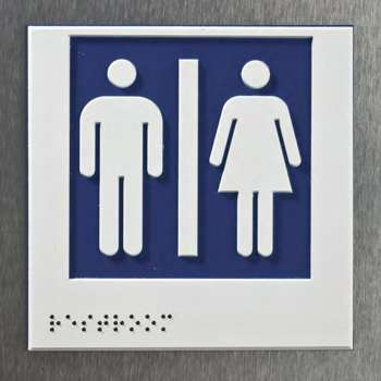 Toilet Braille Sign