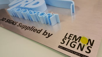 3d sign from lemon signs