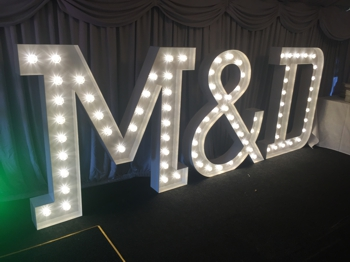 LED built up letter