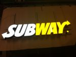 Subway Sign lit internally with LEDs
