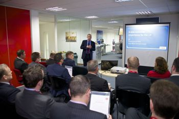 Attendees at the Canon Horizon's centre in a presentation.
