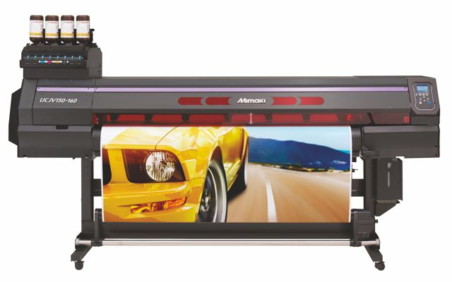 Mimaki UCJV150, an integrated printer/cutter with UV ink.
