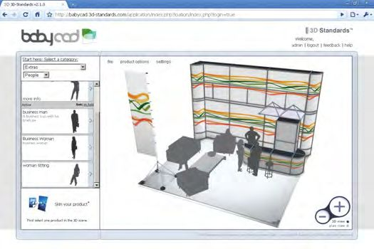 3D-Standards - Design your own exhibition stand in minutes