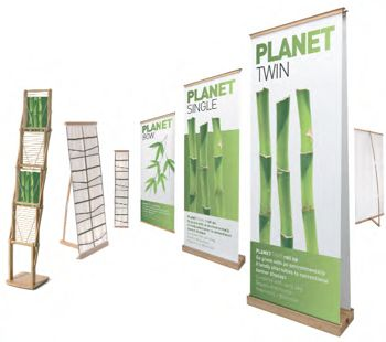 The new Planet range from Eurostand Display made from renewable, high quality bamboo.
