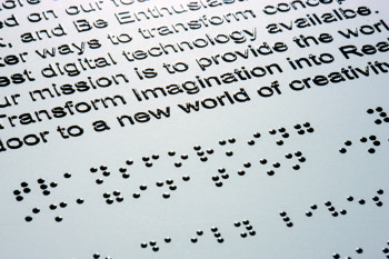 lec - braille and embossed text