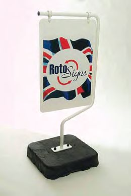 RotoSigns floor standing rotating sign.