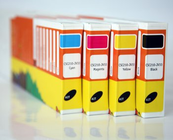 Ink Cartridges for a wide format inkjet printer.