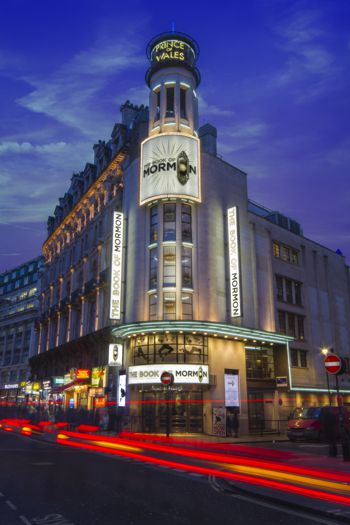 The West End's Book of Mormon lit up with Applelec LED signage