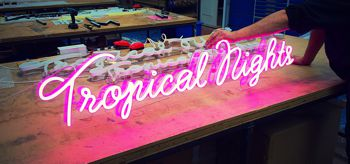 Neon Tropical nights sign