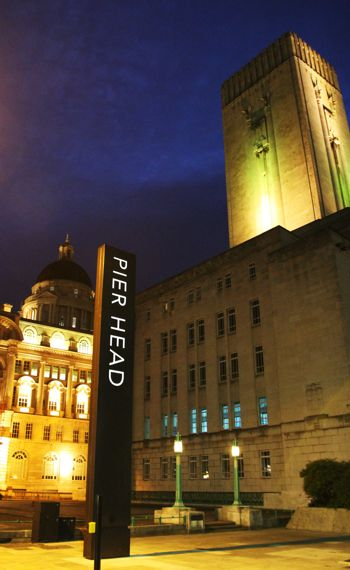 The Pier Head nine metre high totem