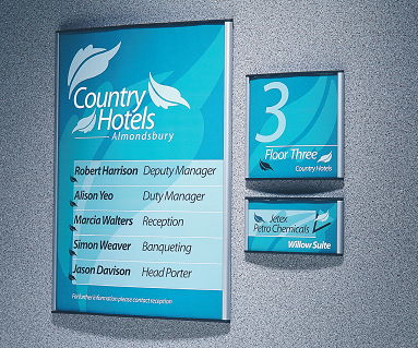 Co-ordinated signage creates identity and practicality.