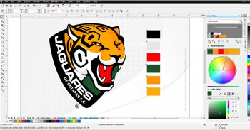 CorelDraw Colour Harmonies functionality being shown with a screen shot