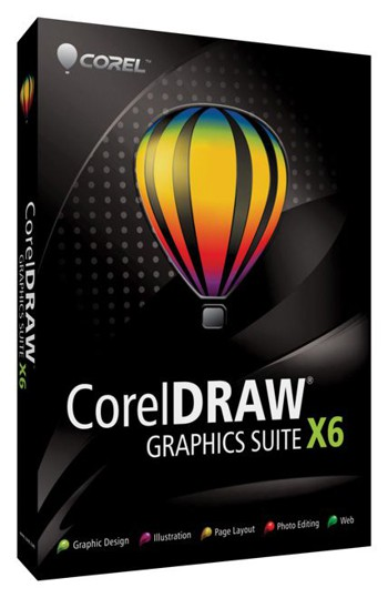 CorelDraw X6 Boxed software