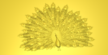 This peacock was designed in Delcam's artistic CADCAM software package ArtCAM Pro.