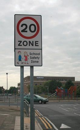One of the new signs designed to be seen earlier by drivers for increased road safety in Grimsby and Cleethorpes.