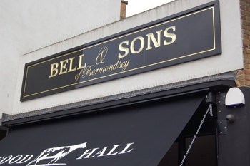Bell and Sons goldleaf traditional sign