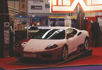 The Ferrari Hexis had on their stand at the UK Sign and Digital exhibitions.