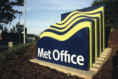 Met Office Sign - Striking design fabricated by Signs Express (Exeter).