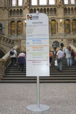 Sign at the Natural History Museum