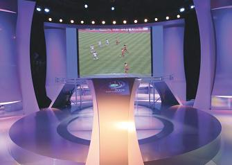Alupanel from Multipanel was used to create this stunning studio set for Euro 2008.