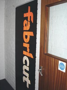 Fabricut sign in the entrance of their premises.