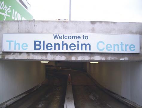 Sign at the Blenheim shopping Centre
