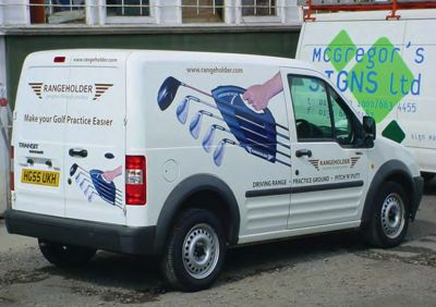 Vehicle livery by McGregor's Signs.