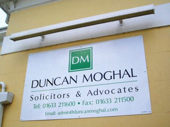 Plaque created by SignWise for Solicitors