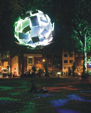 The amazing Globe of Light was constructed with Foamalux 'Brighter White' panels.