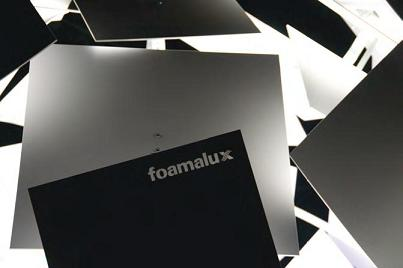 Foamalux sheets containing their logo