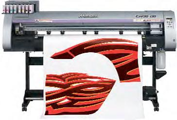 The new CVJ-130 integrated Printer-Cutter.