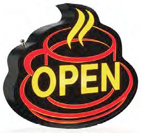OpenSign - An eye catching steam effect from this OPEN SIGN