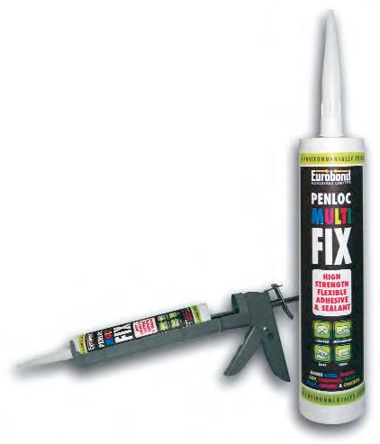 Penloc Multi fix cartridge with a heavy duty mastic gun
