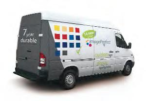 Van showing the new ImagePerfect colour range with a vehicle livery.
