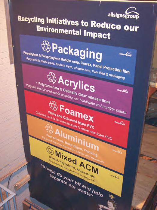 Clear, colour-coded signage helps make it easy to separate different waste types.