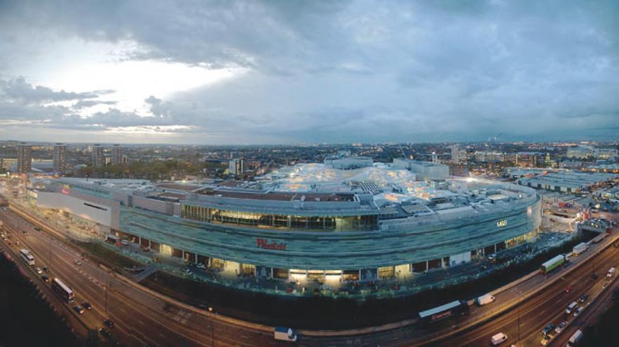 Westfield Shopping Centre from the air