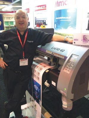 The Mimaki CJV30 at the Trophex exhibition