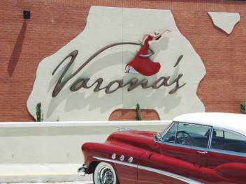 Finished Varona's sign, a Cuban restaurant in Pensacola.
