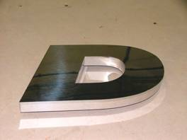 Stainless Steel built up letter.