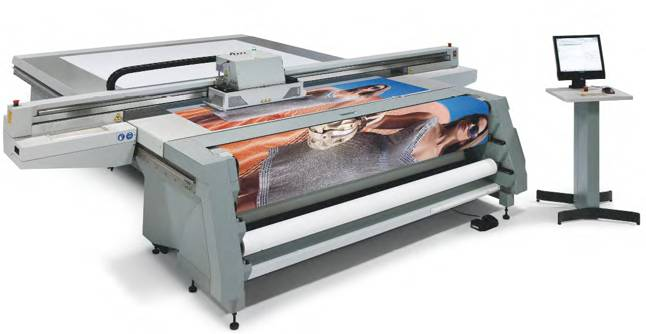 Oce Arizona 350 XT flatbed printer.